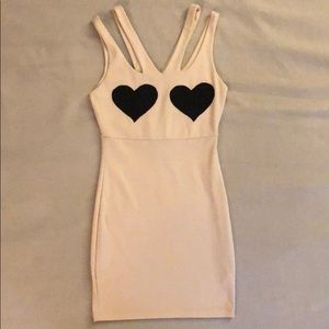 Heart cutout mini dress